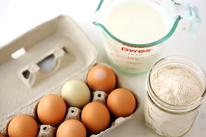 ingredients to make kefir pancakes