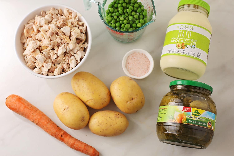 ingredients to make potato salad
