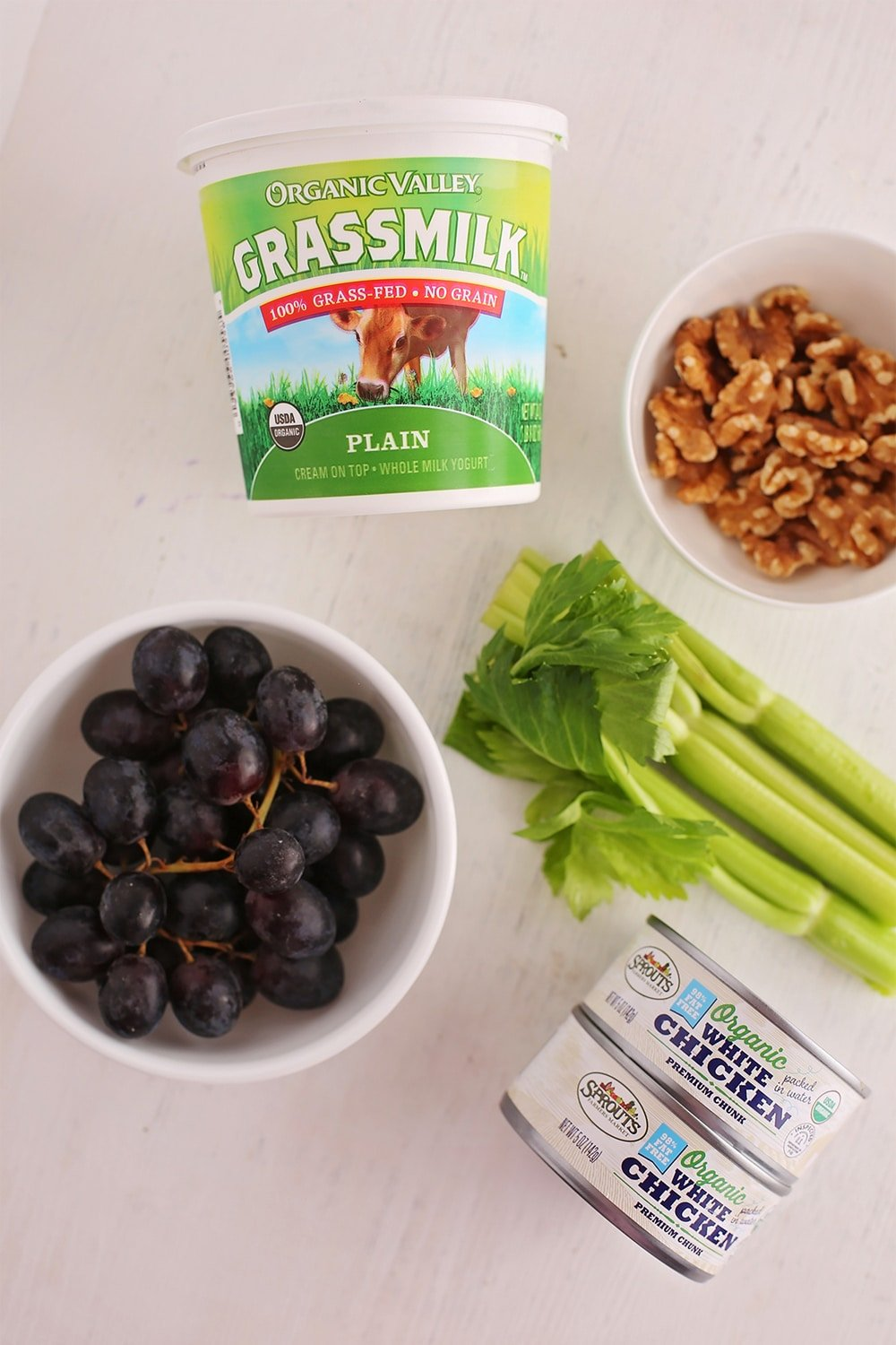 ingredients to make chicken salad with grapes