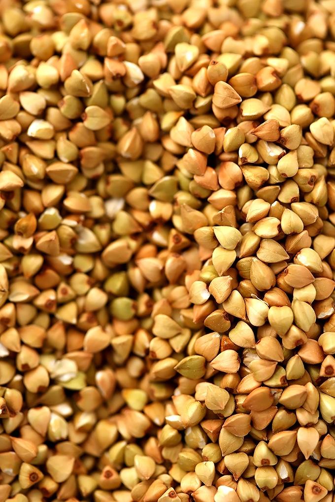 buckwheat groats macro shot