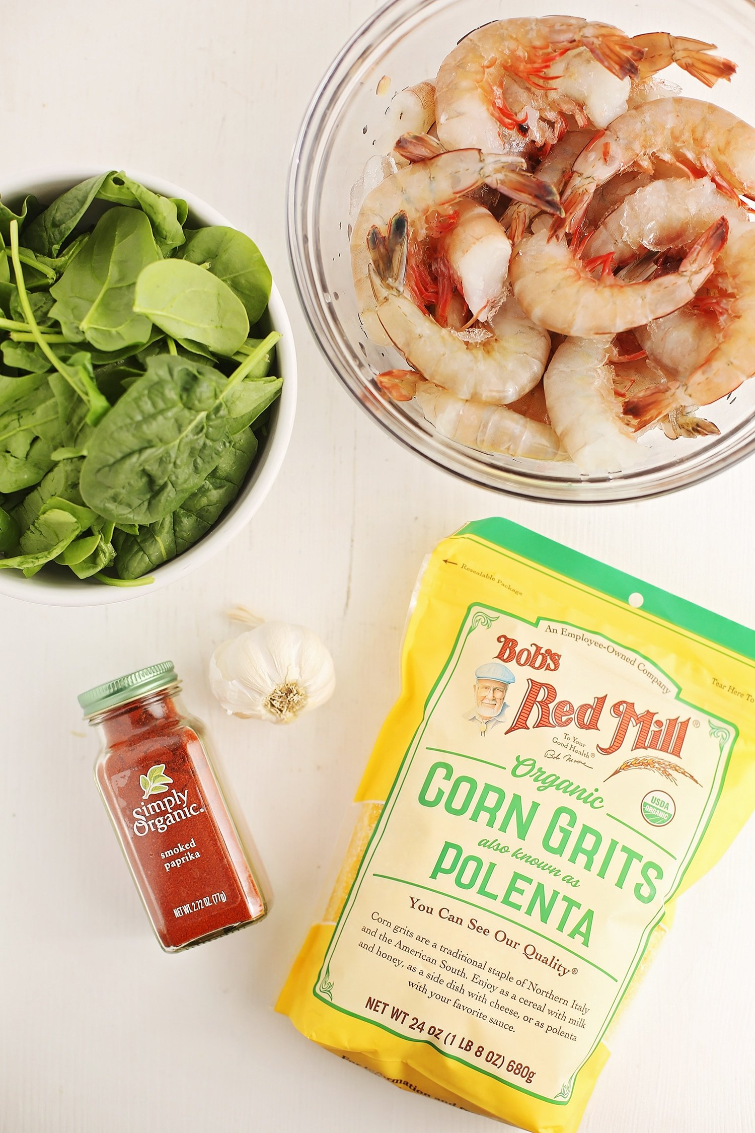 ingredients to make easy shrimp and grits