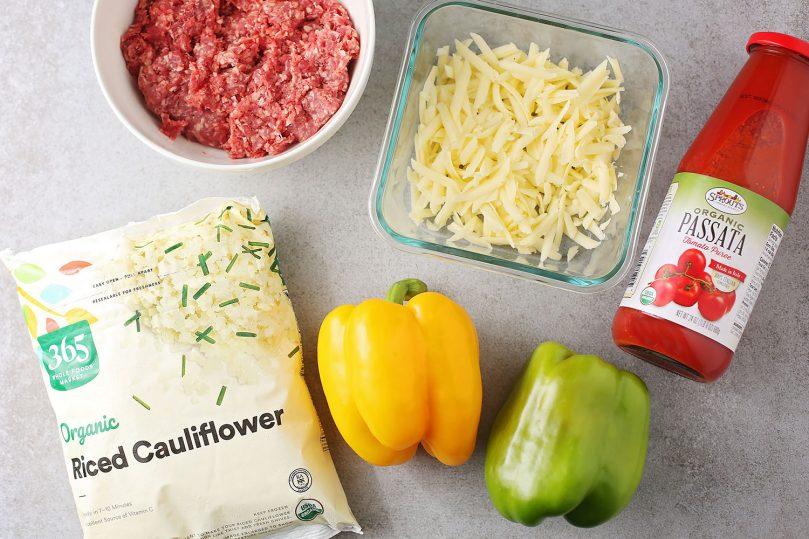 ingredients for unstuffed pepper skillet