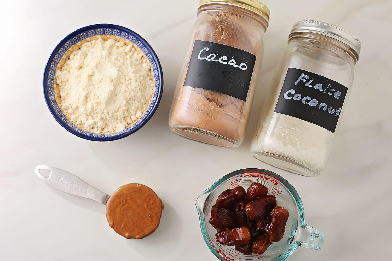 ingredients to make No-Bake Chocolate Truffles
