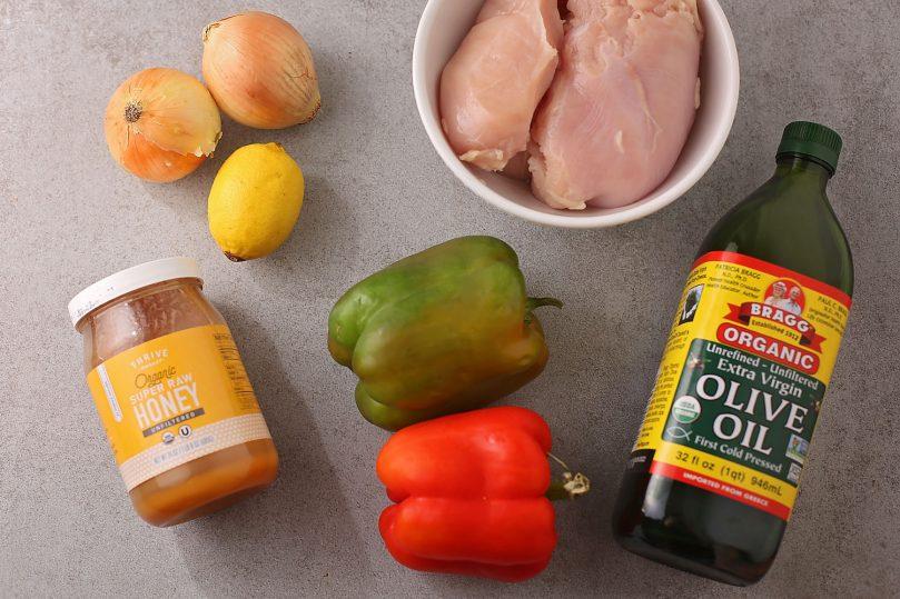 ingredients for chicken skewers