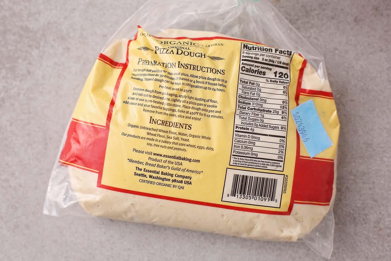 organic store-bought pizza dough
