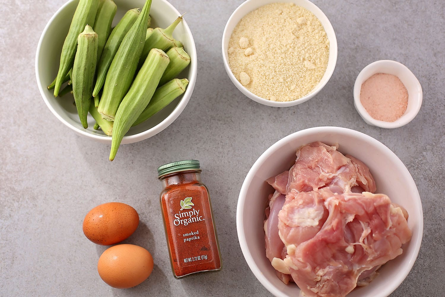 ingredients for make okra with chicken