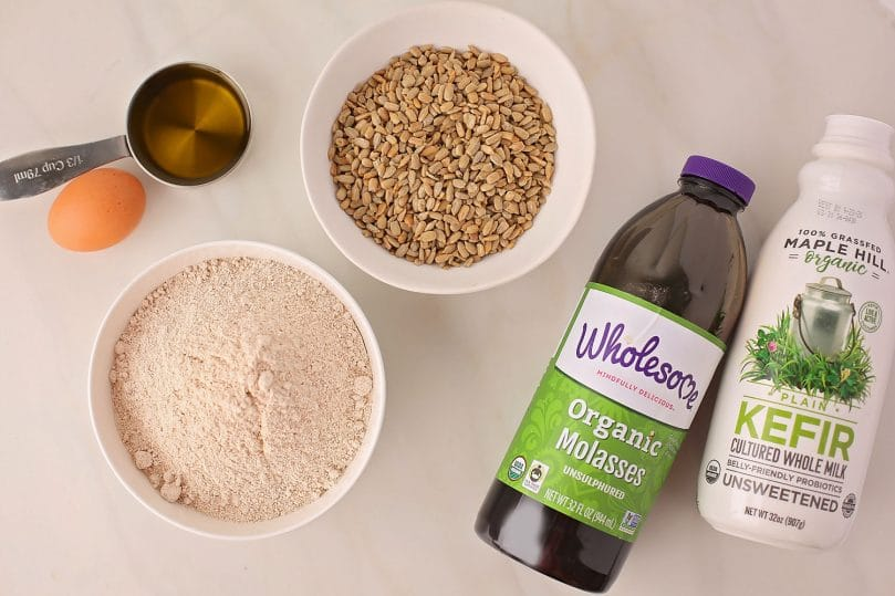 ingredients for molasses bread