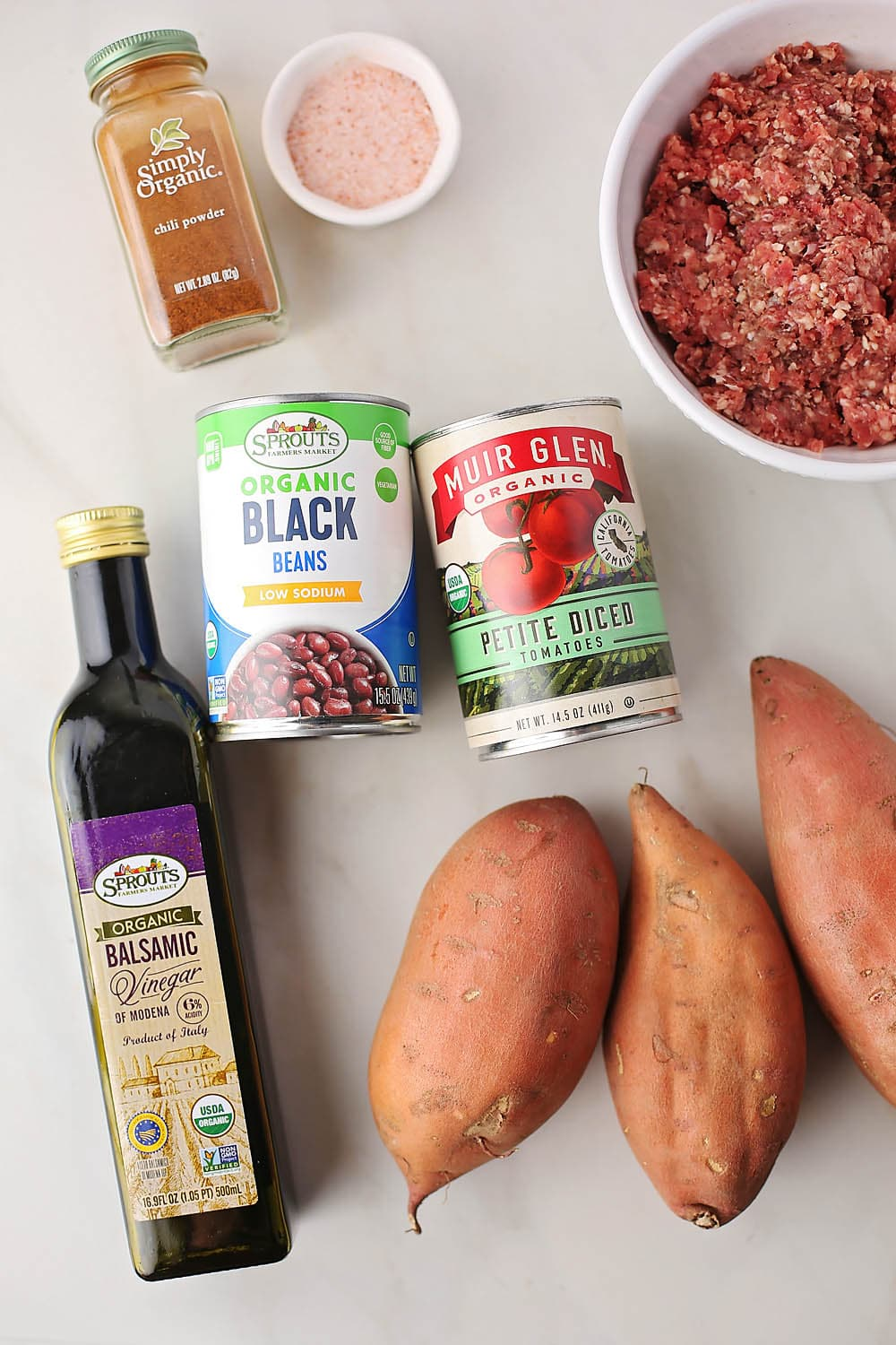 ingredients to make Quick Chili Baked Potatoes