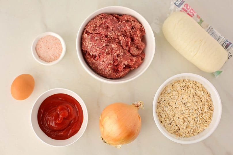 ingredients to make meatloaf with cheese