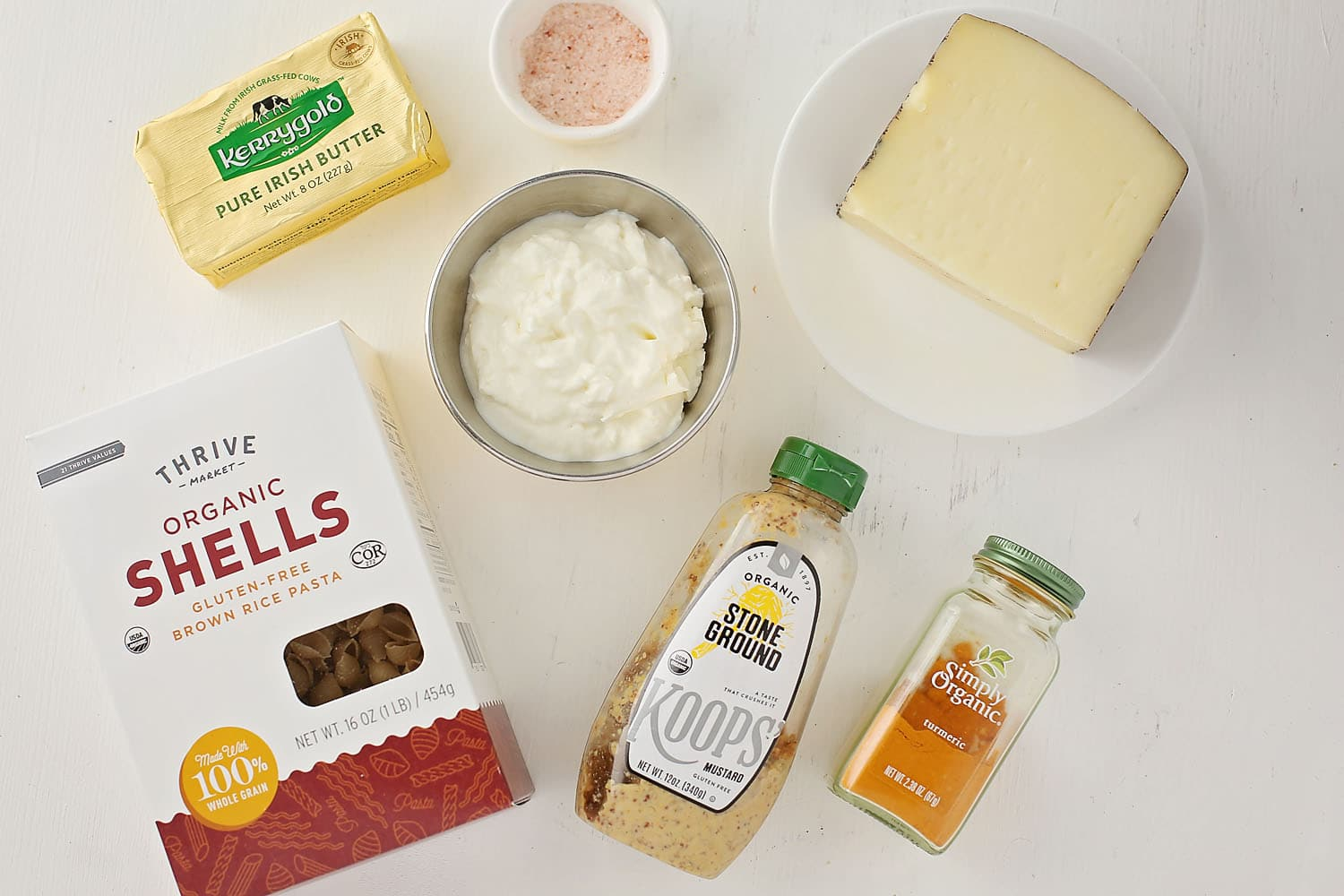 ingredients to make mac and cheese