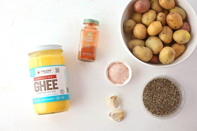ingredients to make baked crispy potatoes