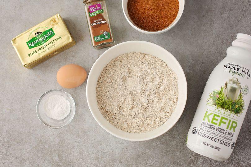ingredients to make cinnamon buns