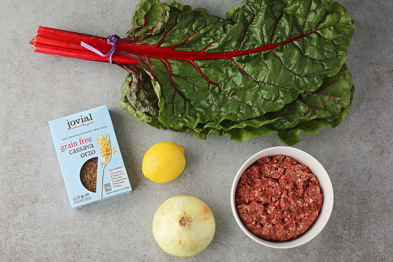ingredients for the chard soup