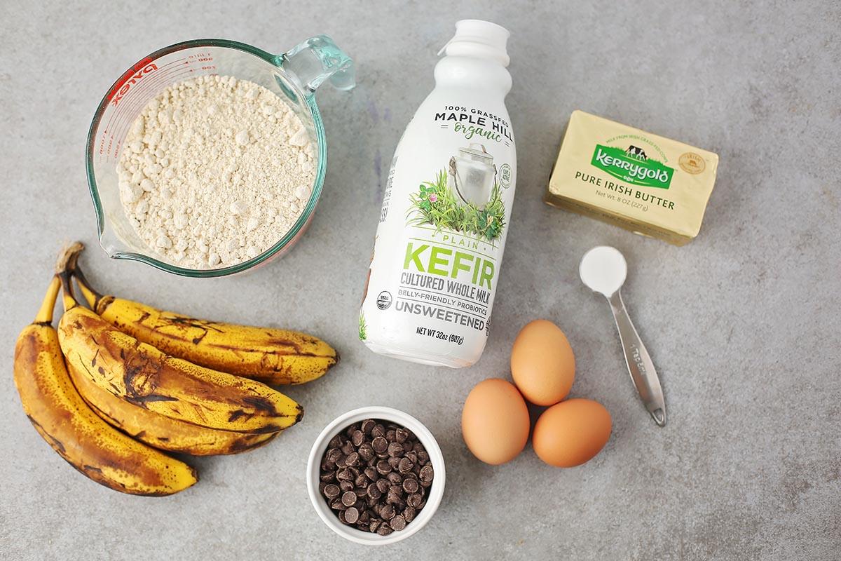 ingredients to make banana bread