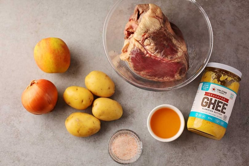ingredients to make stew with meat