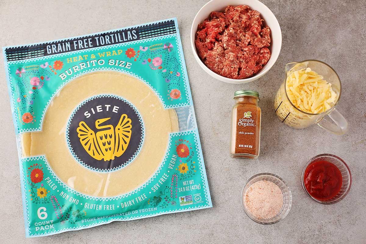 ingredients to make quesadillas