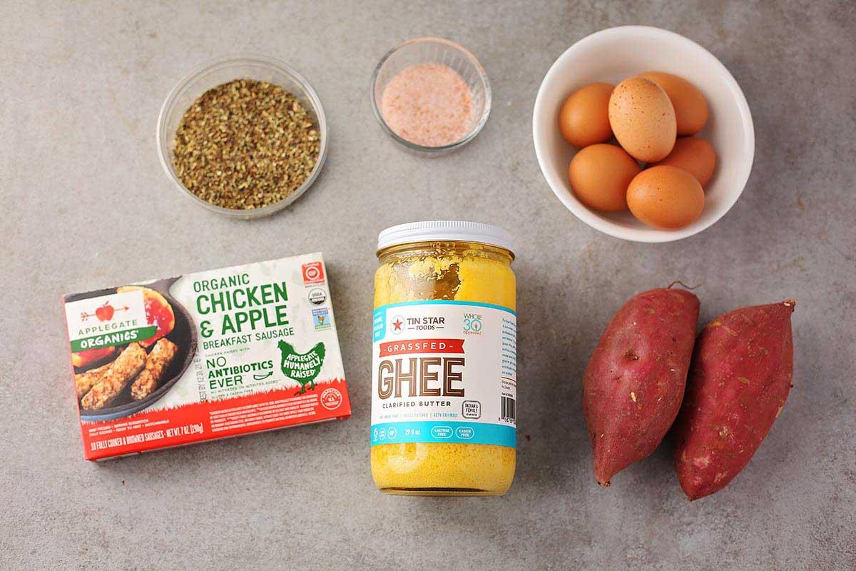 ingredients to make breakfast bake
