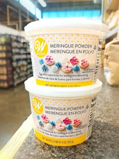 two cans of Wilton brand meringue powder